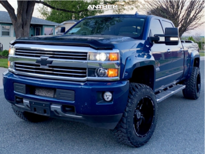 2015 Chevrolet Silverado 2500 HD - 20x12 -44mm - Anthem Off-Road Equalizer - Stock Suspension - 305/55R20