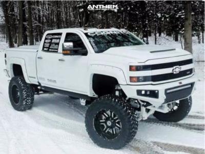 "2016 Chevrolet Silverado 2500 HD - 22x12 -44mm - Anthem Off-Road A742 - Suspension Lift 12"" - 40"" x 15.5"""