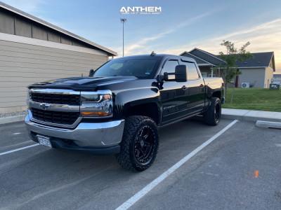 "2017 Chevrolet Silverado 1500 - 20x10 -18mm - Anthem Off-Road Rogue - Suspension Lift 2.5"" - 33"" x 12.5"""
