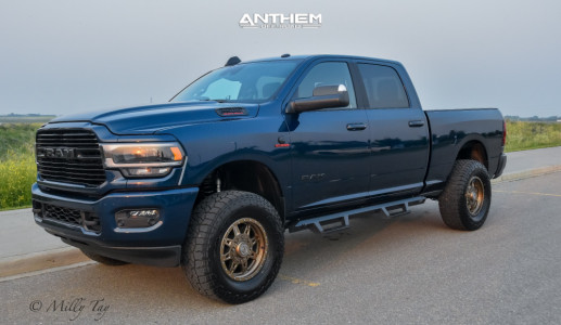2020 Ram 2500 - 18x9 18mm - Anthem Off-Road Rogue - Leveling Kit - 325/65R18