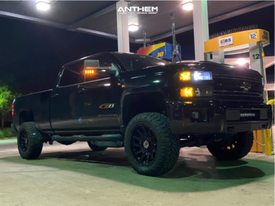 "2019 Chevrolet Silverado 2500 HD - 20x10 -18mm - Anthem Off-Road Liberty - Leveling Kit - 35"" x 11.5"""