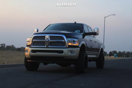 "2014 Ram 3500 - 20x12 -42mm - Anthem Off-Road Equalizer - Suspension Lift 2.5"" - 33"" x 12.5"""