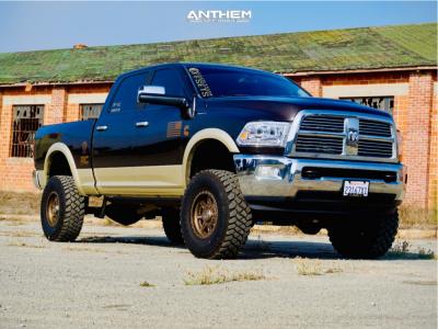 "2011 Ram 2500 - 17x9 -12mm - Anthem Off-Road Rogue - Suspension Lift 5"" - 35"" x 12.5"""