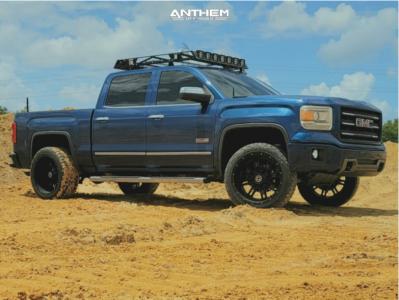 "2015 GMC Sierra 1500 - 22x12 -44mm - Anthem Off-Road Instigator - Leveling Kit - 33"" x 12.5"""
