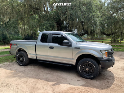 2020 Ford F-150 - 18x9.5 -12mm - Anthem Off-Road Intimidator - Leveling Kit - 275/70R18