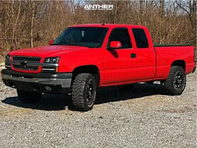 2003 Chevrolet Silverado 1500 - 17x9 -12mm - Anthem Off-Road Aviator - Leveling Kit - 285/70R17