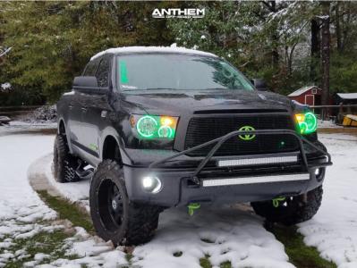 "2013 Toyota Tundra - 20x10 -24mm - Anthem Off-Road Defender - Suspension Lift 4.5"" - 35"" x 12.5"""