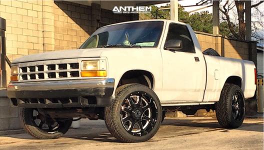 1991 Dodge Dakota - 20x10 -24mm - Anthem Off-Road Commander - Stock Suspension - 275/45R20
