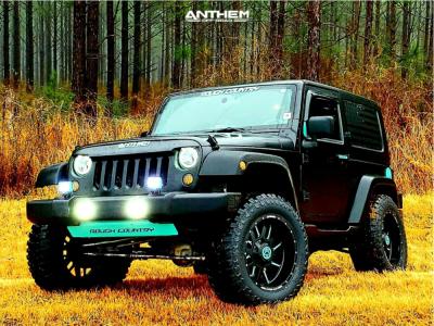 "2008 Jeep Wrangler - 20x10 -24mm - Anthem Off-Road Gunner - Suspension Lift 3.5"" - 35"" x 12.5"""