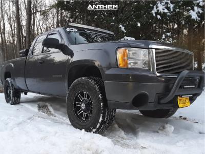 "2011 GMC Sierra 1500 - 17x9 0mm - Anthem Off-Road Instigator - Suspension Lift 3"" - 35"" x 12.5"""