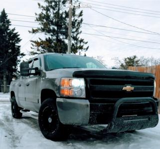 2009 Chevrolet Silverado 1500 - 18x9 0mm - Anthem Off-Road Commander - Stock Suspension - 265/65R18