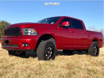 "2009 Dodge Ram 1500 - 20x10 -24mm - Anthem Off-Road Commander - Suspension Lift 4.5"" - 275/60R20"