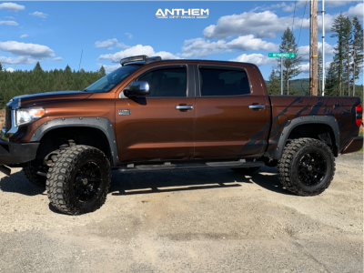 "2017 Toyota Tundra - 20x10 -24mm - Anthem Off-Road Defender - Suspension Lift 6"" - 37"" x 13.5"""