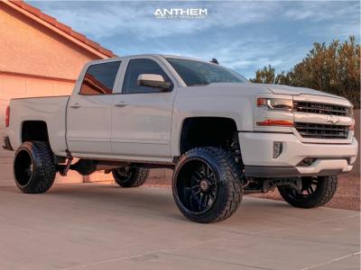 "2018 Chevrolet Silverado 1500 - 22x14 -76mm - Anthem Off-Road Equalizer - Suspension Lift 8"" - 33"" x 12.5"""