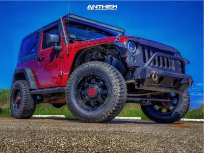 "2008 Jeep Wrangler - 18x9 0mm - Anthem Off-Road Commander - Suspension Lift 2.5"" - 33"" x 12.5"""