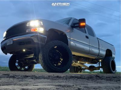 "1999 Chevrolet Silverado 2500 - 22x14 -76mm - Anthem Off-Road Instigator - Suspension Lift 6"" & Body 3"" - 37"" x 13.5"""