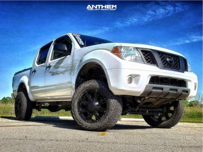 "2012 Nissan Frontier - 18x9 -12mm - Anthem Off-Road Defender - Suspension Lift 6"" - 265/70R18"
