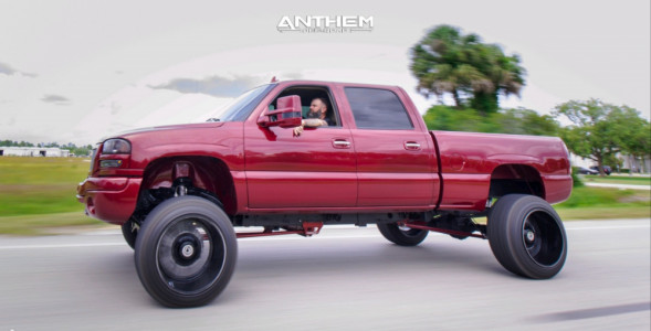 "2006 GMC Sierra 2500 HD Classic - 22x14 -76mm - Anthem Off-Road Equalizer - Suspension Lift 6"" - 35"" x 12.5"""