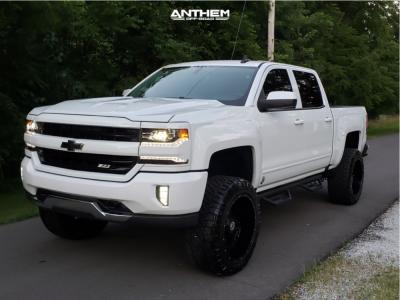 "2018 Chevrolet Silverado 1500 - 22x12 -44mm - Anthem Off-Road Instigator - Suspension Lift 7"" - 35"" x 12.5"""