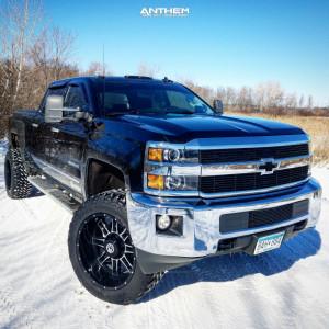 "2015 Chevrolet Silverado 2500 HD - 22x12 -44mm - Anthem Off-Road Instigator - Suspension Lift 3.5"" - 325/50R22"