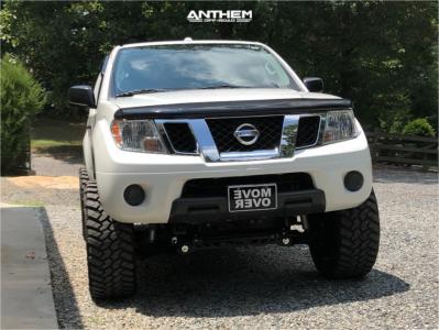 "2014 Nissan Frontier - 20x10 -24mm - Anthem Off-Road Gunner - Suspension Lift 6"" - 295/55R20"