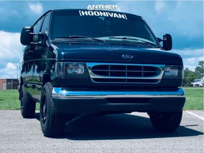 2000 Ford E-350 Super Duty - 17x9 0mm - Anthem Off-Road Instigator - Stock Suspension - 245/75R17