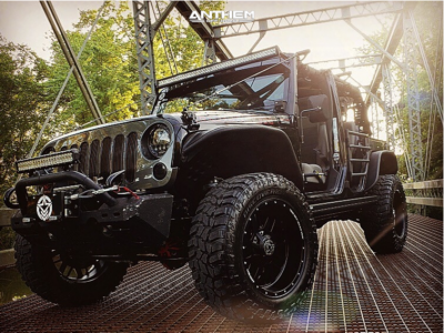 "2010 Jeep Wrangler JK - 20x10 -24mm - Anthem Off-Road Gunner - Suspension Lift 2.5"" - 35"" x 12.5"""