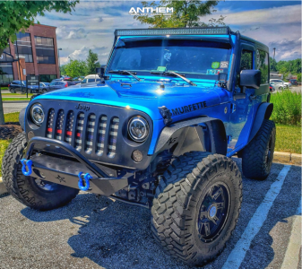"2015 Jeep Wrangler JK - 17x9 0mm - Anthem Off-Road Instigator - Suspension Lift 2.5"" - 35"" x 12.5"""