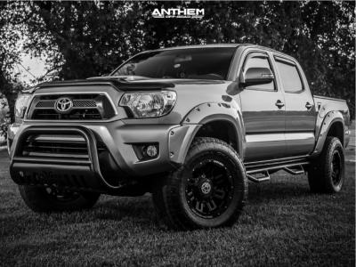 "2015 Toyota Tacoma - 17x9 -12mm - Anthem Off-Road Defender - Suspension Lift 2.5"" - 285/75R17"