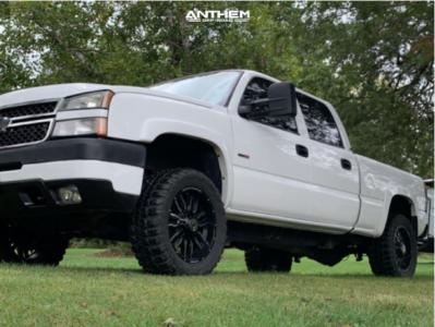 "2005 Chevrolet Silverado 2500 HD - 20x9 0mm - Anthem Off-Road Equalizer - Stock Suspension - 33"" x 12.5"""
