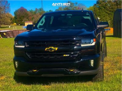 2017 Chevrolet Silverado 1500 - 17x9 -12mm - Anthem Off-Road Defender - Leveling Kit - 285/70R17
