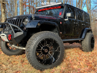 "2013 Jeep Wrangler JK - 22x14 -76mm - Anthem Off-Road Instigator - Suspension Lift 4.5"" - 37"" x 13.5"""
