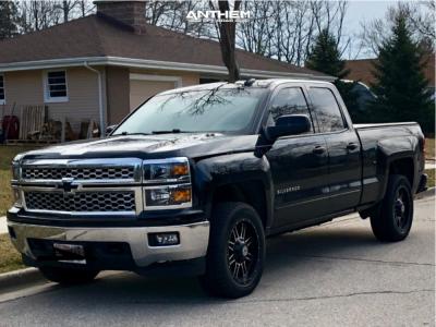 2015 Chevrolet Silverado 1500 - 20x9 0mm - Anthem Off-Road Instigator - Leveling Kit - 275/45R20