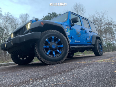 2016 Jeep Wrangler JK - 17x9 -12mm - Anthem Off-Road Defender - Stock Suspension - 245/75R17