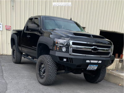 "2011 Chevrolet Silverado 1500 - 18x9 18mm - Anthem Off-Road Enforcer - Suspension Lift 7.5"" - 35"" x 12.5"""
