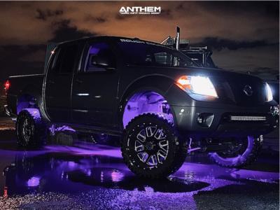 "2016 Nissan Frontier - 20x10 -24mm - Anthem Off-Road Gunner - Suspension Lift 6"" - 285/50R20"