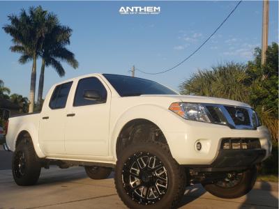 """2019 Nissan Frontier - 20x10 -24mm - Anthem Off-Road Gunner - Suspension Lift 6"""" - 33"""" x 12.5"""""""