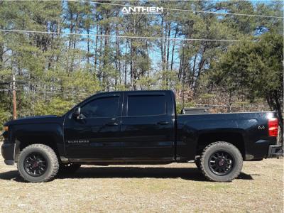 2018 Chevrolet Silverado 1500 - 18x9 -12mm - Anthem Off-Road Intimidator - Leveling Kit - 275/65R18