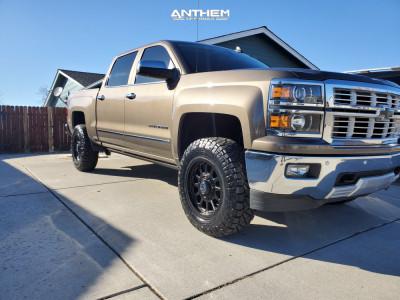 2015 Chevrolet Silverado 1500 - 18x9 -12mm - Anthem Off-Road Intimidator - Leveling Kit - 265/70R18