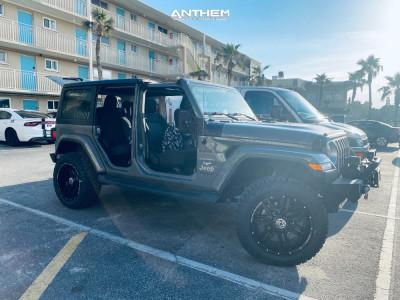 """2019 Jeep Wrangler - 20x10 -24mm - Anthem Off-Road Equalizer - Suspension Lift 2.5"""" - 275/60R20"""